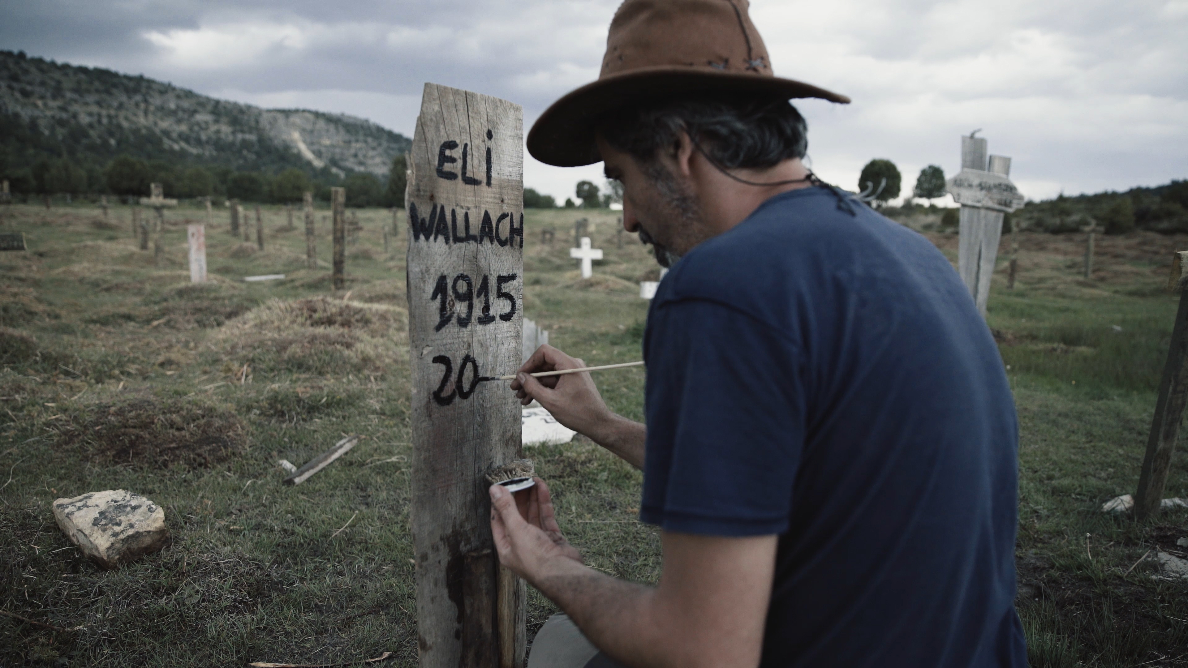 Eli Wallach grave at Sad Hill Cemetery